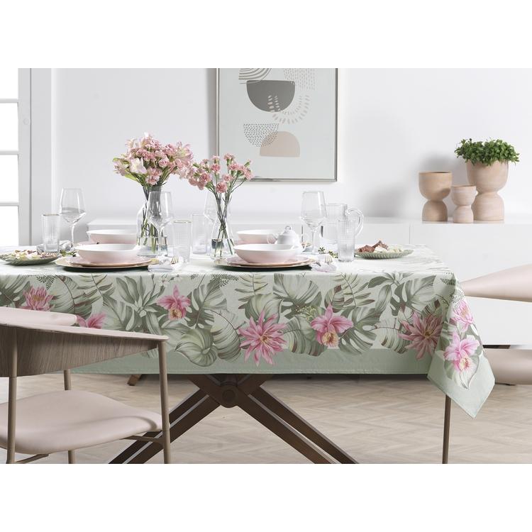 Toalha de mesa Redonda 6 lugares - 1,78m - Jardina - sempre limpa - Karsten