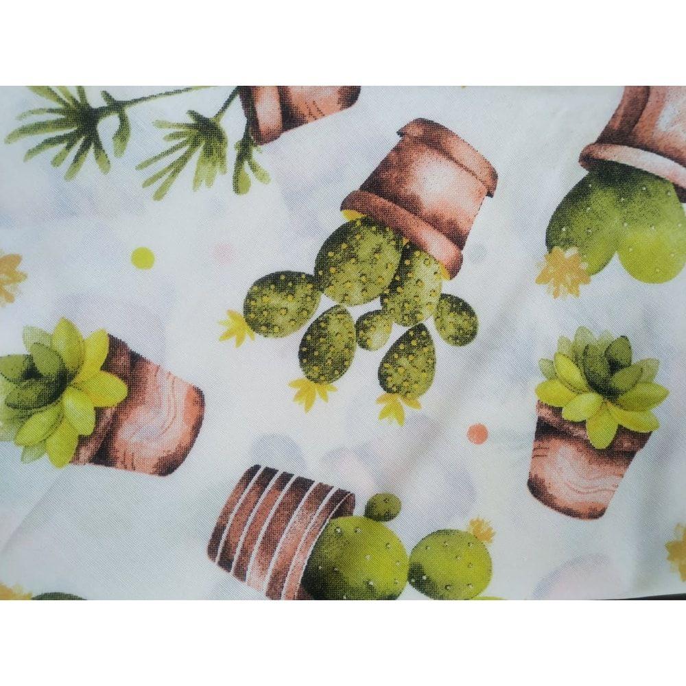 Toalha de mesa redonda limpa fácil 1,40 cm  cactos  pratic raner