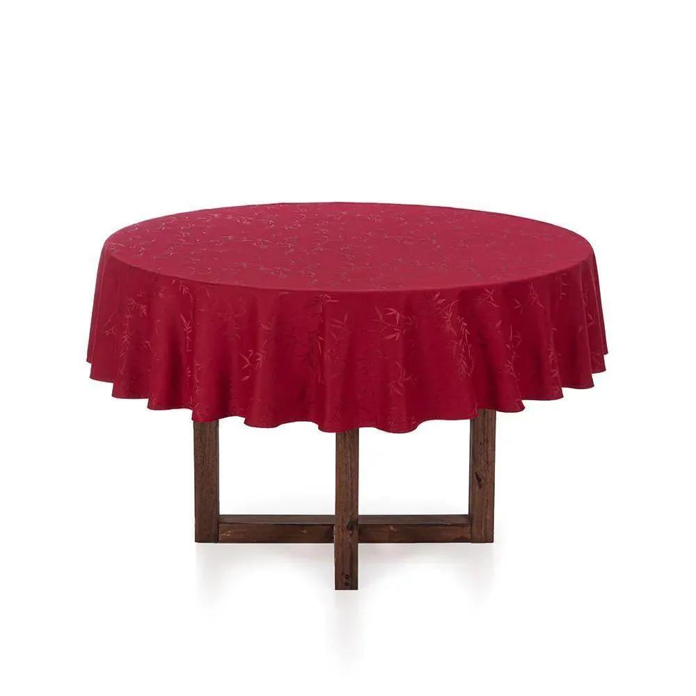 Toalha de mesa Redonda vermelha 6 Lugares Verissimo - 1,78cm - celebration - karsten