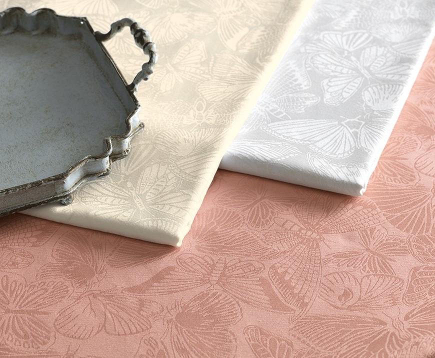 Toalha de mesa Retangular 8 Lugares Arbela Rosa Pétala Karsten