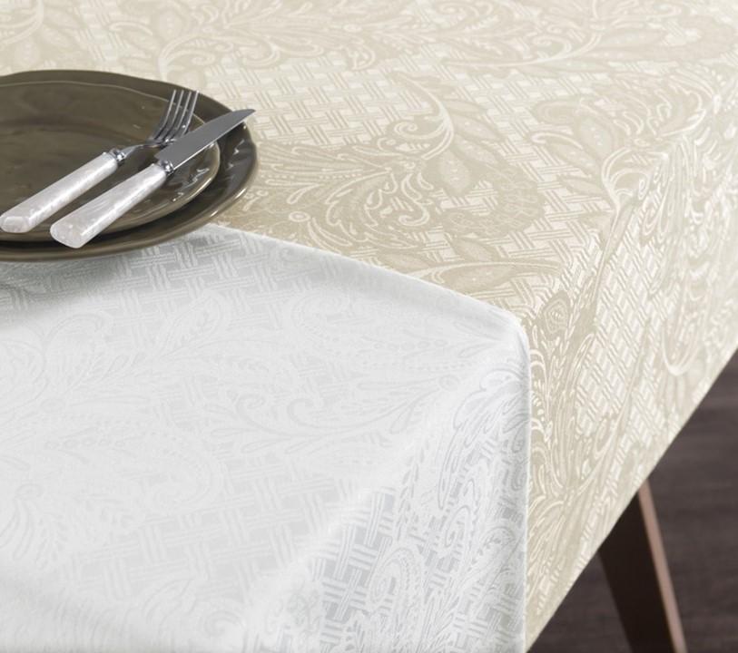Toalha de mesa Retangular 160x220 Bege Natural Mendi Karsten