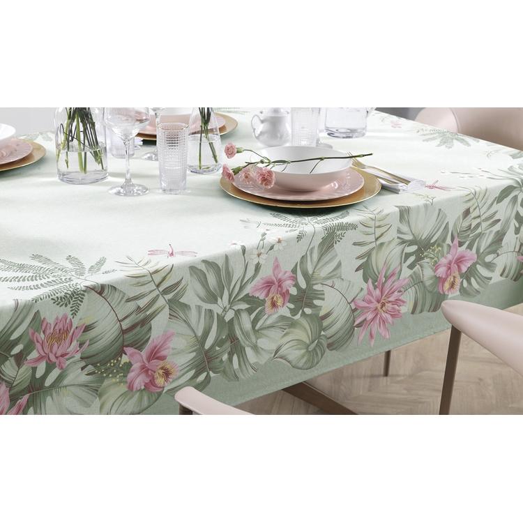Toalha de mesa Retangular 6 lugares - Jardina - sempre limpa - Karsten