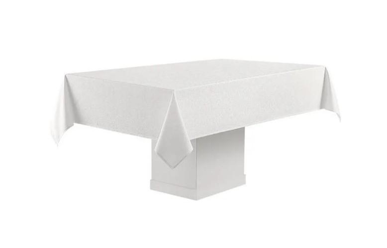 Toalha de Mesa Retangular Branca 8 Lugares Faenza 1,60x2,70 Sempre Limpa Karsten