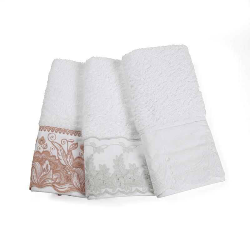 Toalha Para Lavabo Imperiale com Bordado - Trussardi
