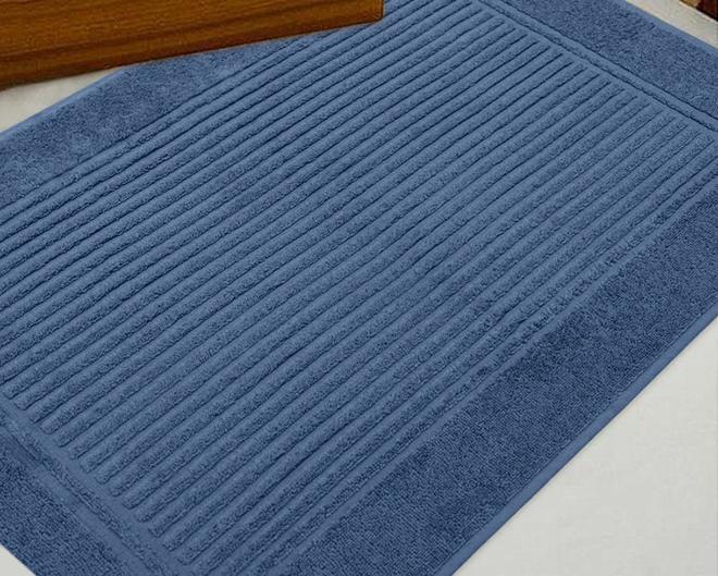 Toalha Para Pés Canelado Azul Indigo Frape 48x70 Buddemeyer
