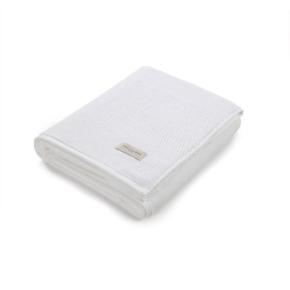 Toalha Rosto Branca Castelli 48x80cm - 500g/m2 - Trussardi
