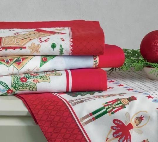 Toalhas de Natal Set 3pçs 78x78 Tempo de alegria - Karsten