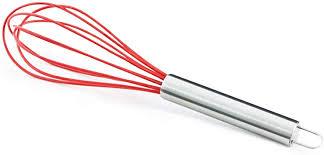 Utensílios 100%silicone Colher+Espátula+Batedor Red Clink