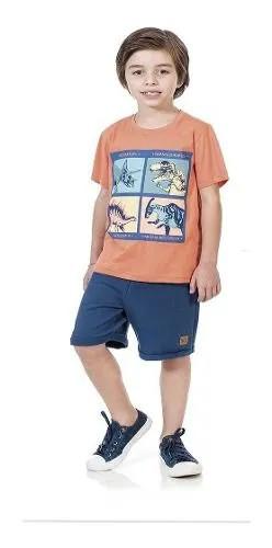 Conjunto Masculino Kids Clube 503910007 Laranja