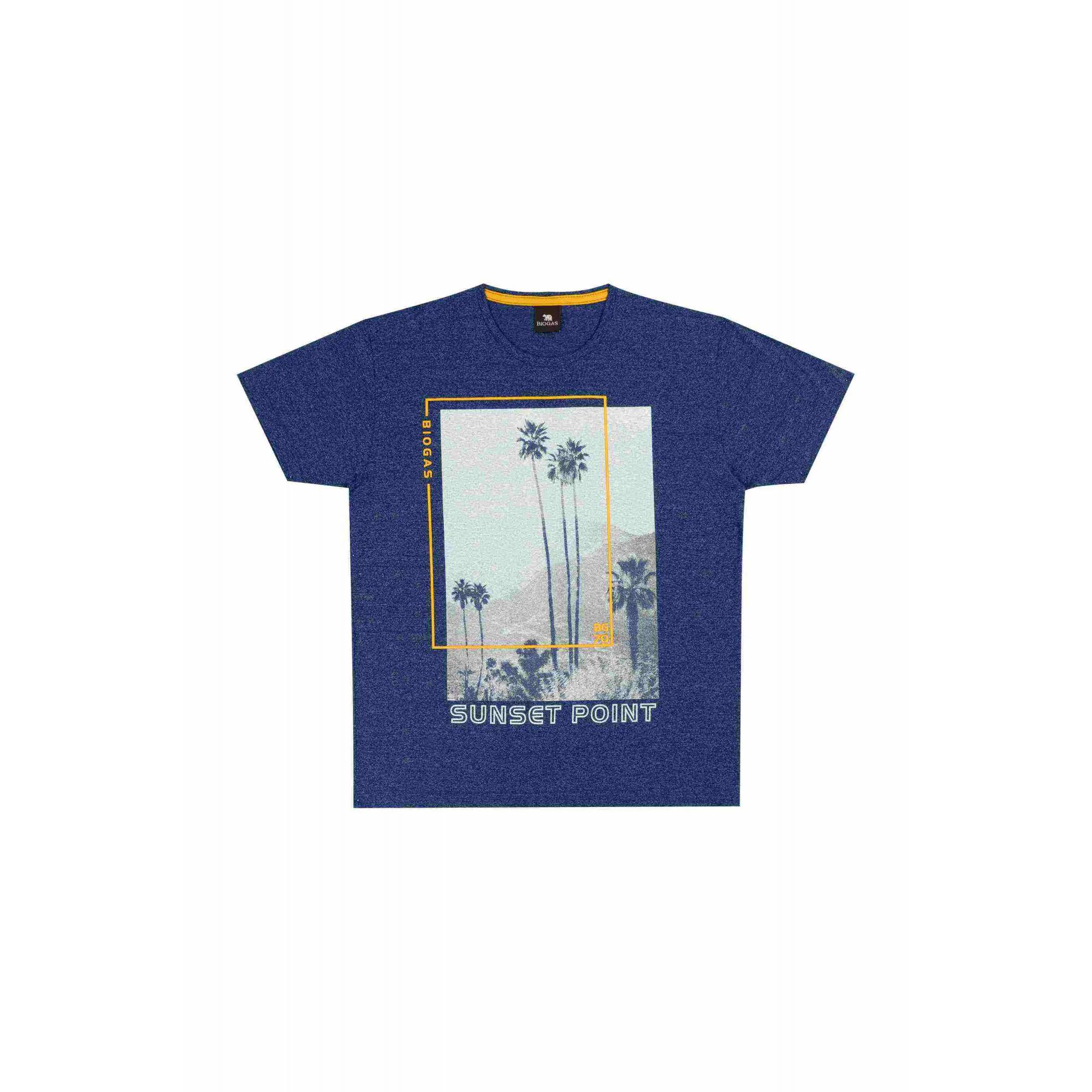 Camiseta Masculino Azul B 30081