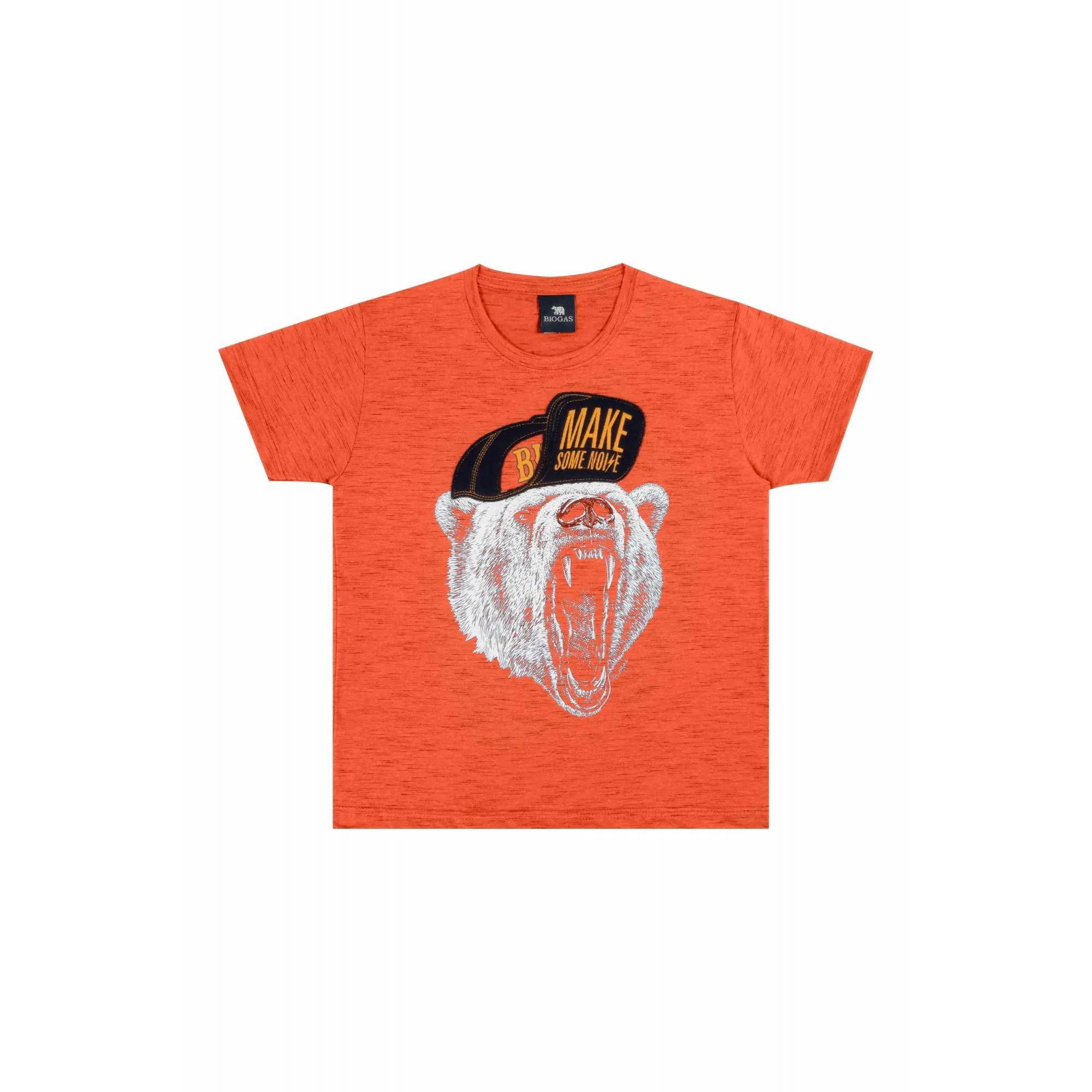 Camiseta Masculino Tr Inf Bg Tangerina 22825