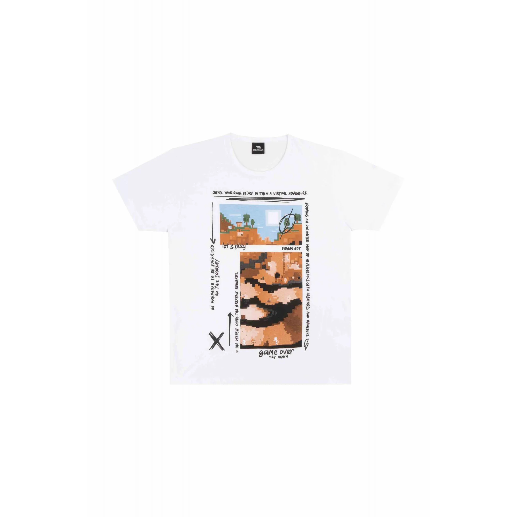 Camiseta Masculino Tr Juv Bg Branco  30074