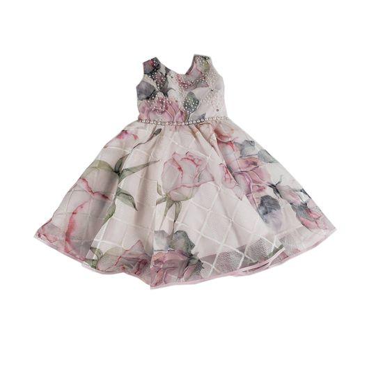 vestido menina de seda feminino 0202