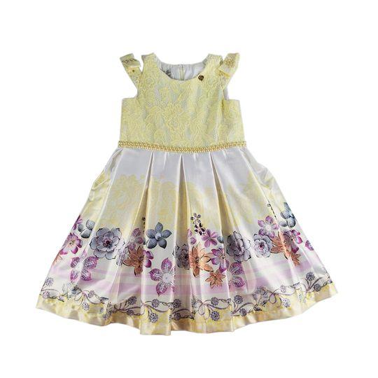 vestido menina de seda feminino 0401