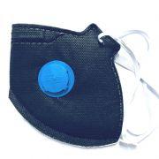 Respirador Descartável PFF2 Carvão c/ Válvula - Grazia