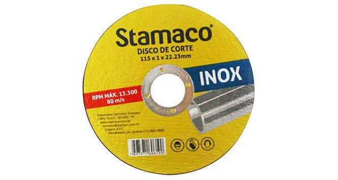 Disco Corte para Inox 115X1,0X22,23MM - Stamaco