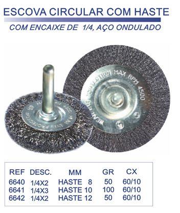 Escova Circular com Hastes 50X8MM - Lotus