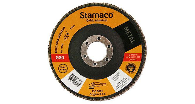 Disco Flap Lixa para Metal – 115 X 22 G80 - Stamaco
