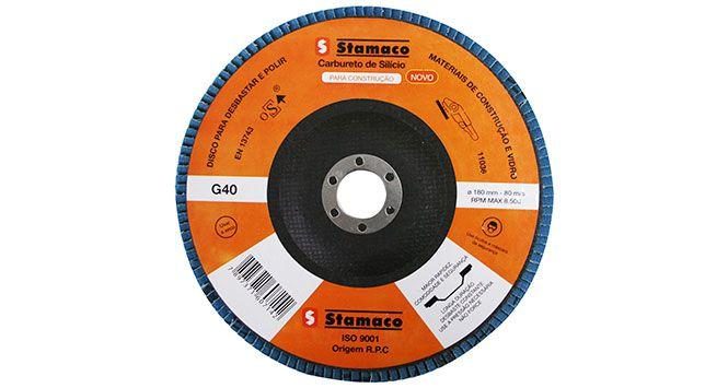 Disco Flap Lixa para Metal – 180 X 22 G40 - Stamaco