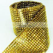 Manta Acrílica Dourada - 10cm x 40cm