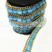 Manta Chaton Corrente Azul - 1MT x 1,5CM - Altíssima Qualidade