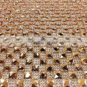 Manta Chaton Dourada - 24cm x 40cm - Altíssima Qualidade
