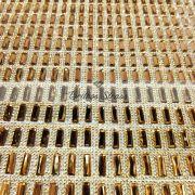Manta Chaton Palito Dourada - 24cm x 40cm - Altíssima Qualidade