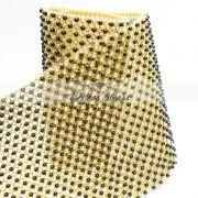 Manta De Strass Com Pérola Escura - 60cm x 45cm