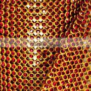 Manta De Strass Vermelha - 10cm x 45cm