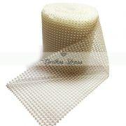 Manta Meia Pérola Marfim 1MT x 10,5CM - 4mm - Altíssima Qualidade