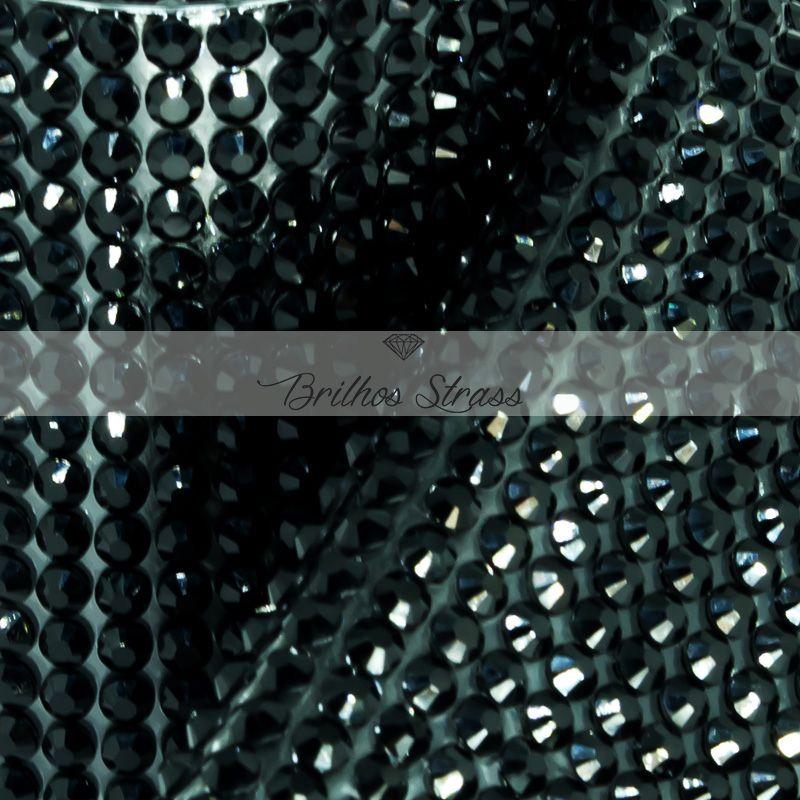 Manta Acrílica Preta - 10cm x 40cm