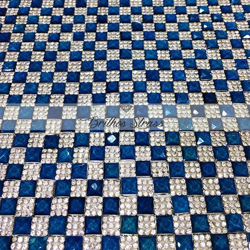 Manta Chaton Azul - 12cm x 40cm - Altíssima Qualidade