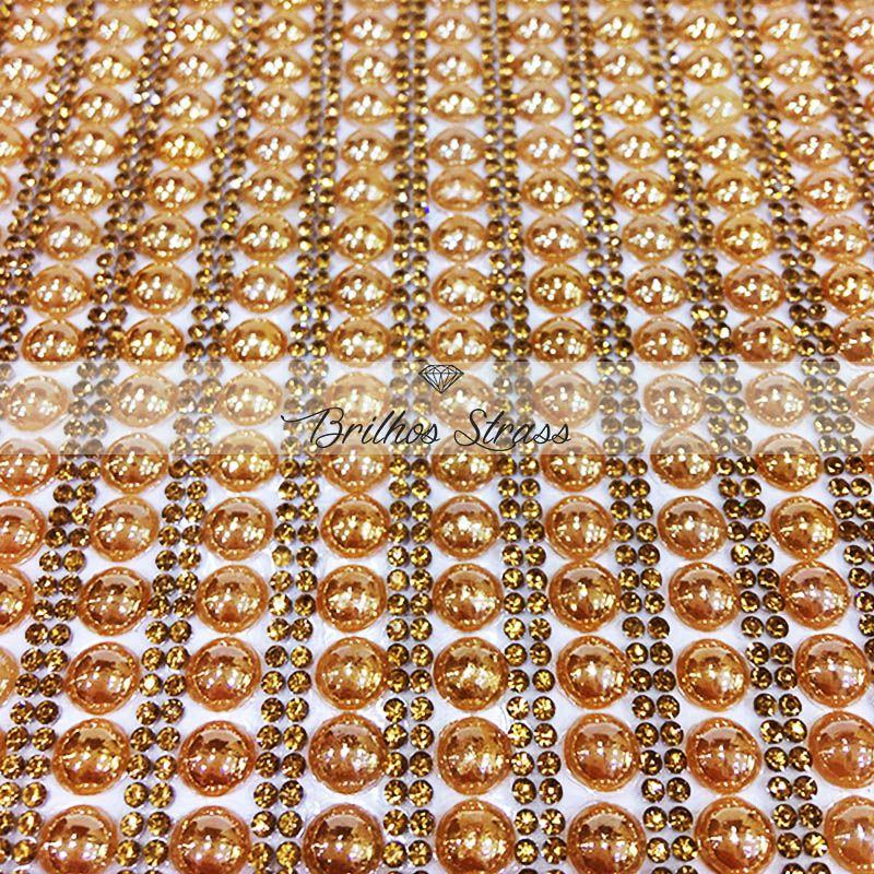 Manta Chaton Bolinha Dourada - 24cm x 40cm - Altíssima Qualidade