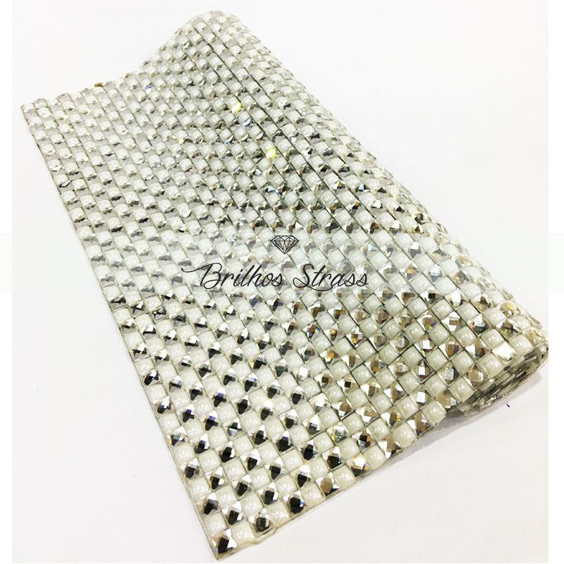 Manta Chaton Branca - 12cm x 40cm - Altíssima Qualidade