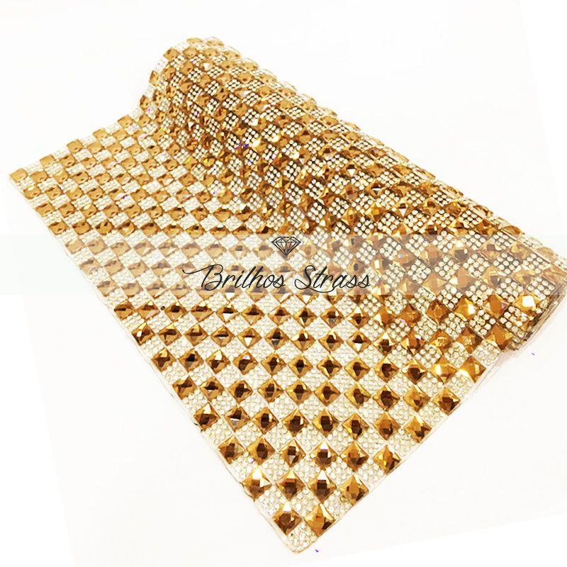 Manta Chaton Dourada - 12cm x 40cm - Altíssima Qualidade