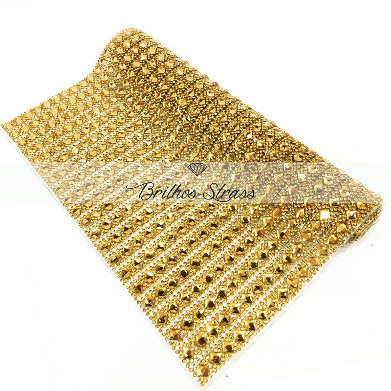 Manta Chaton Losangulo Dourado - 24cm x 40cm - Altíssima Qualidade