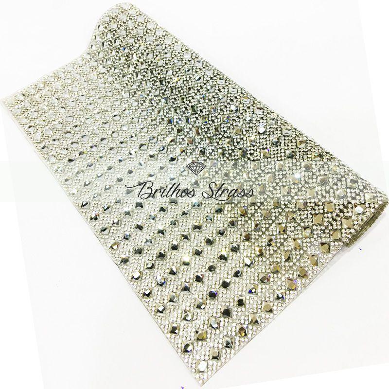 Manta Chaton Losangulo Prata - 24cm x 40cm - Altíssima Qualidade