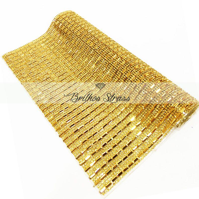 Manta Chaton Mini Palito Dourada - 24cm x 40cm - Altíssima Qualidade