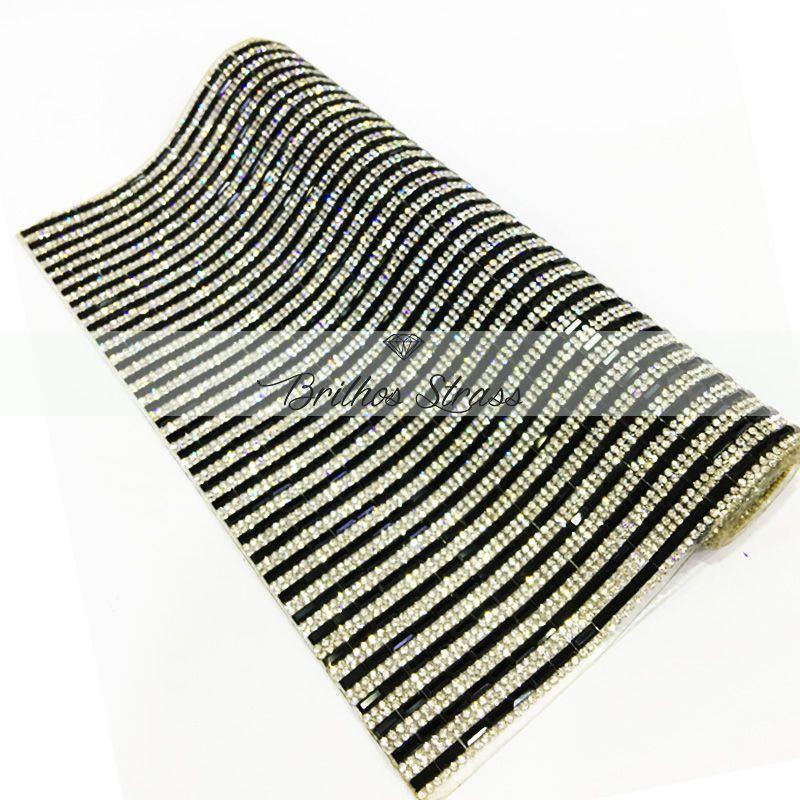 Manta Chaton Mini Palito Preta - 12cm x 40cm - Altíssima Qualidade