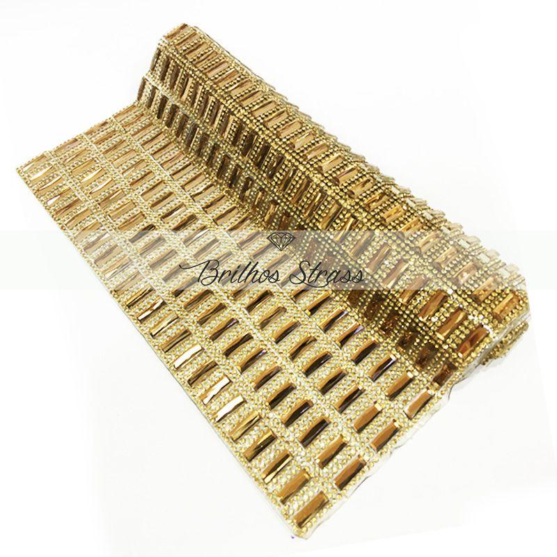 Manta Chaton Palito Dourada - 12cm x 40cm - Altíssima Qualidade