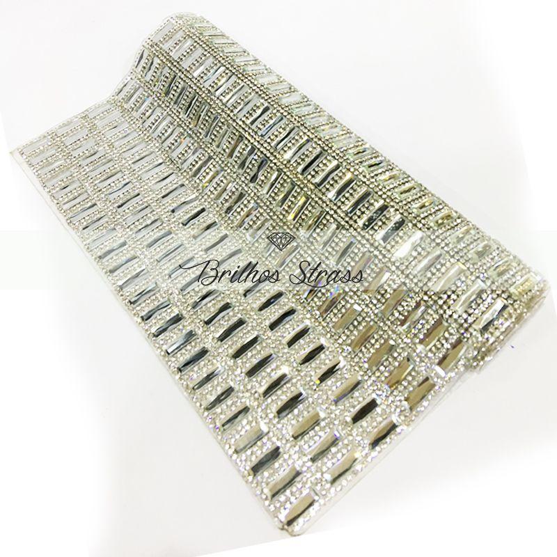Manta Chaton Palito Prata - 12cm x 40cm - Altíssima Qualidade