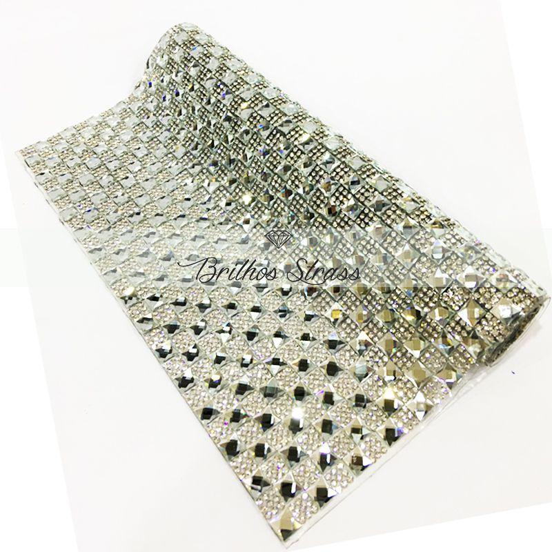 Manta Chaton Prata - 12cm x 40cm - Altíssima Qualidade