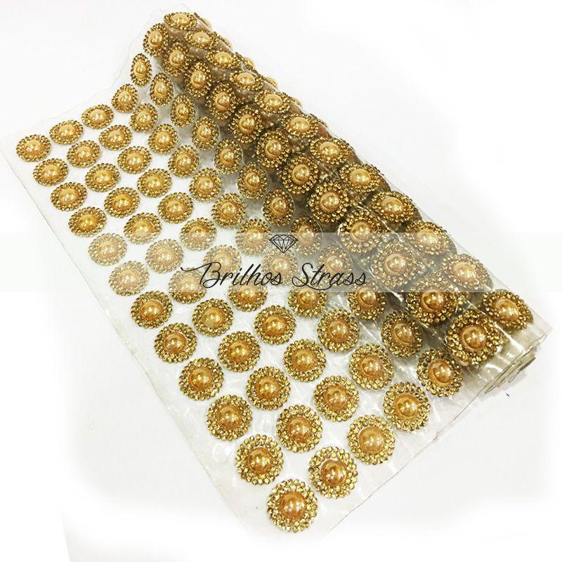 Manta Meia Pérola Dourada - 24cm x 40cm - Altíssima Qualidade