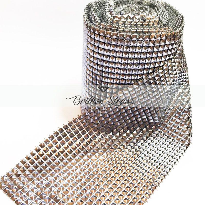 Manta Pirâmide Prata - 1MT x 12CM - Altíssima Qualidade