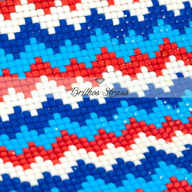 Manta Zig Azul - 24cm x 40cm