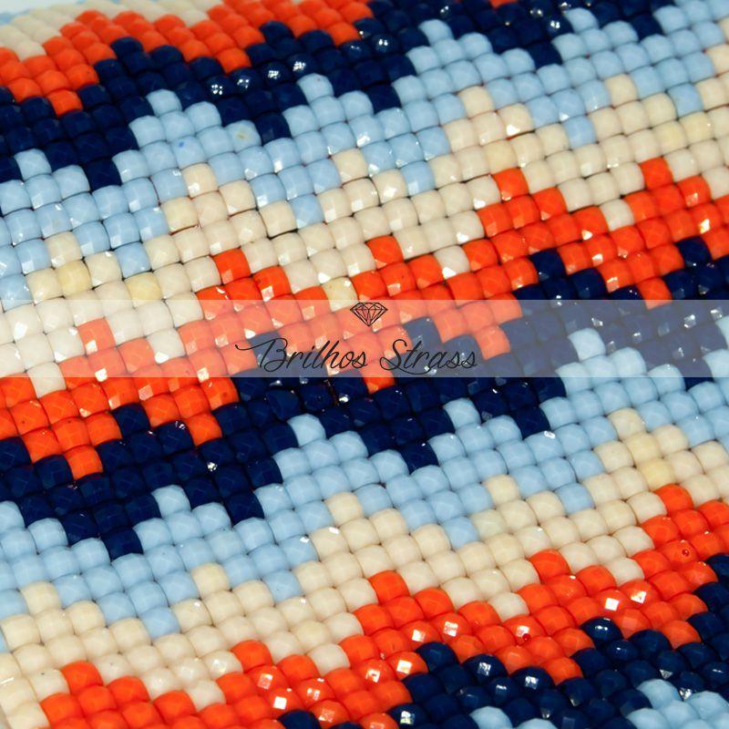 Manta Zig Azul Marinho - 24cm x 40cm