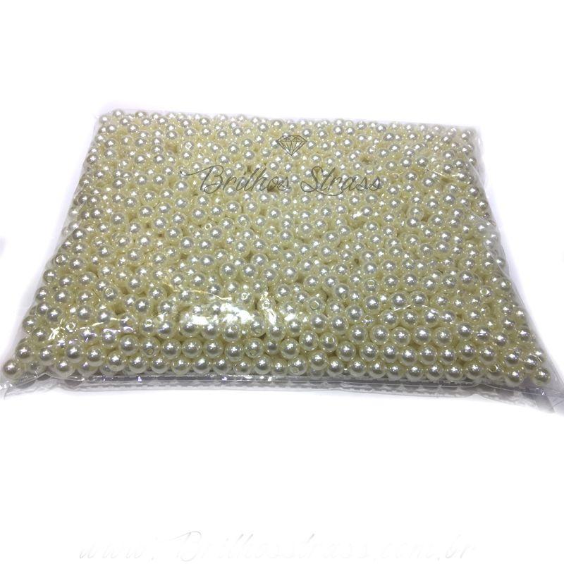Meia Pérola Marfim 10MM - 100G - Altíssima Qualidade