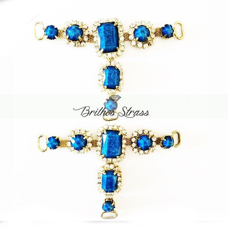 Pedraria Para Cabedal - Azul  - Altíssima Qualidade