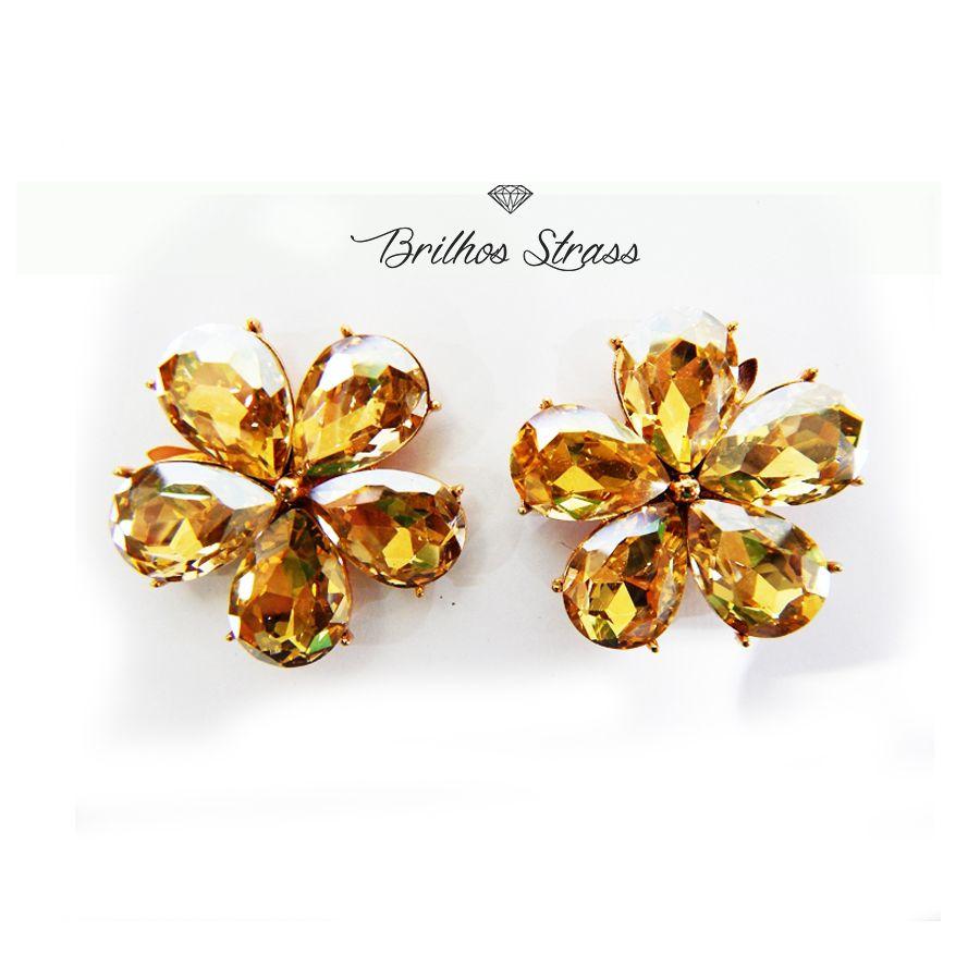 Piercing Para Chinelo - Flor Dourada - Altíssima Qualidade