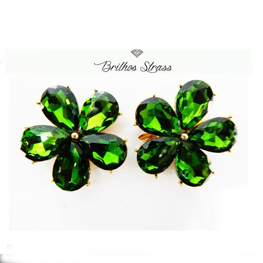 Piercing Para Chinelo - Flor Verde - Altíssima Qualidade